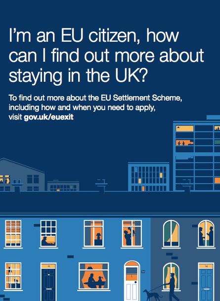 Cabinet Office public information campaign for EU citizens.