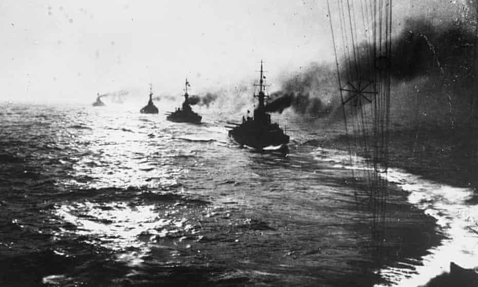 The Battle of Jutland in 1916.
