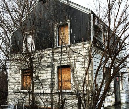 Rosa Parks' house in Detroit before deconstruction.