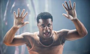 Danny Sapani as Tshembe Matoseh in Les Blancs.