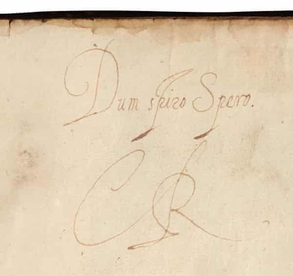 'We thought my goodness' … Charles I's inscription in The Faerie Queen.