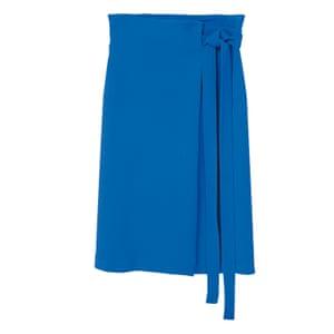 Blue Knot midi skirt