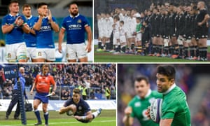 Italy celebrate victory over Georgia, England and New Zealand line up, Ireland's Conor Murray may be back to face New Zealand and Scotland's Tommy Seymour scores against Fiji.