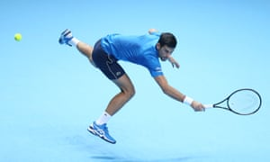 Novak Djokovic playing some crazy tennis.