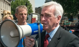 John McDonnell speaking with megaphone