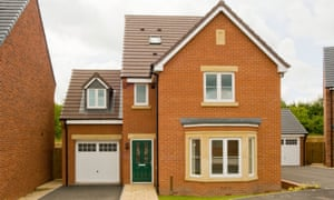 New-build red brick detached house