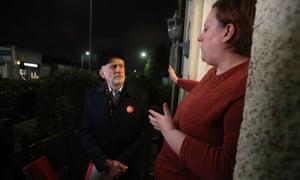 Jeremy Corbyn canvassing in Glasgow