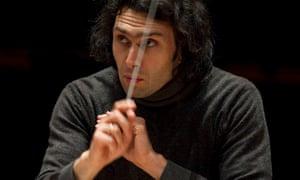 Vladimir Jurowski conducting the London Philharmonic Orchestra.