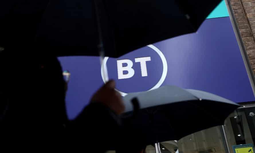 BT logo outside a store in London wants to accelerate BT's shift to fibre broadband and