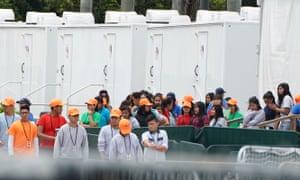 Children incarcerated at the Homestead facility near Miami.