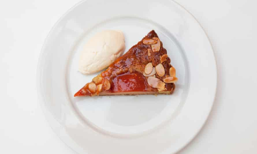 'Ready for its close-up': quince and almond tart.