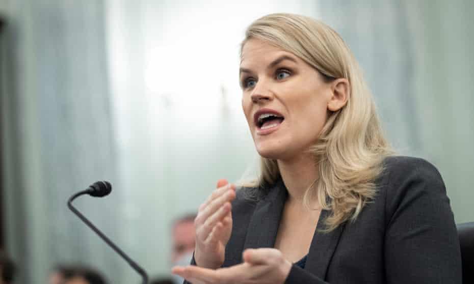 Facebook whistleblower Frances Haugen testifies to a Senate hearing