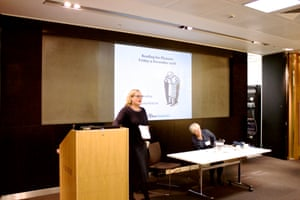 Claire Armitstead, associate culture editor, and Julia Eccleshare, children's book editor, welcome delegates to the Guardian Education Centre Reading for pleasure conference 9 November 2018
