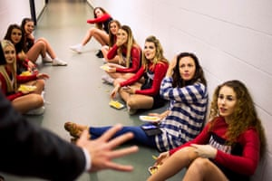 Cheerleaders eating chips in the corridorI received an email from the coach saying that my photograph 'exploited women' and if I didn't remove the picture from social media it would be actionable