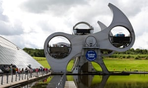 The Falkirk Wheel on the Union Canal