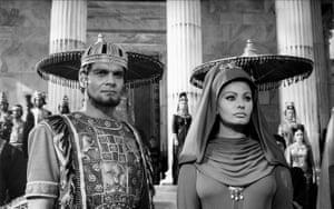 Omar Sharif and Sophia Loren in The Fall Of The Roman Empire, 1964