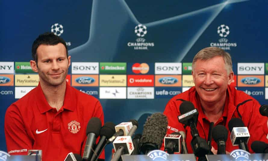 Ryan Giggs (left) spent 29 years at Manchester United, most of them under manager Sir Alex Ferguson (right)