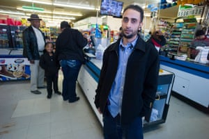Hassan Nasser, owner of the local supermarket.