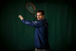 Andy Murray poses for a portrait at the Queens Club in Barons Court in London