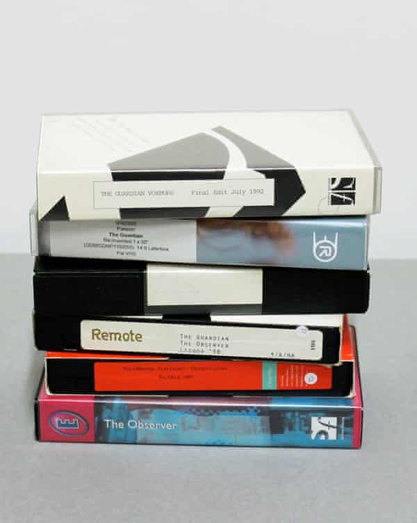 Examples of VHS tapes now digitised and held in the GNM Archive's digital repository.