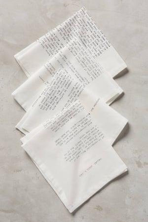 Love Letter Napkin Set
