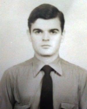 Eduardo Kalinec as a young policeman.
