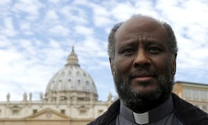 The Vatican's other frontrunner for this year's award, Eritrean priest Mussie Zerai – but he's trailing Pope Francis.