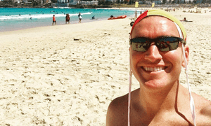 Lifesaver Dan Murphy produced two flash mob videos to 'camp things up' at Bondi