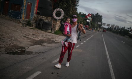 Venezuelans on their way back to their economically devastated country from Bogotá, Colombia, this week.