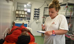 Onboard the MSF mother ship, the medics often treat survivors of torture and rape.
