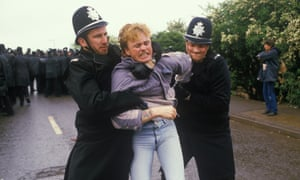 Police in action during the battle of Orgreave.