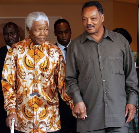 With Nelson Mandela in 2005.