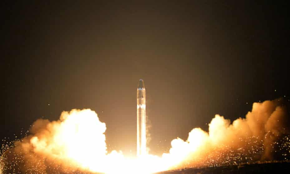North Korea Hwasong-15 intercontinental ballistic missile, launched on  29 November