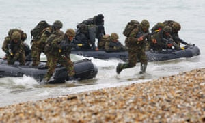 Royal Marines on an exercise