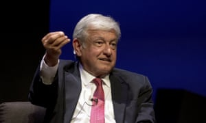 Andrés Manuel López Obrador speaks during a campaign event attended by students at the Monterrey Institute of Technology and Higher Education in Monterrey last month.