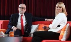 Jeremy Corbyn speaking to Louise Minchin on BBC Breakfast from Bolton.