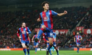 Lee Chung-yong celebrates scoring for Crystal Palace against Stoke City in December 2015. He has since fallen out of favour with manager Alan Pardew