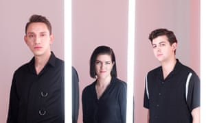 The xx, (l-r) Oliver Sim, Romy Madley Croft and Jamie Smith