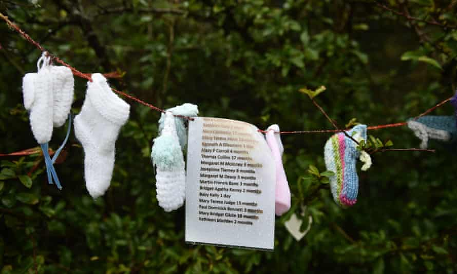 Names of some of the children who died at the Tuam mother and baby home, Ireland, 13 January 2021.