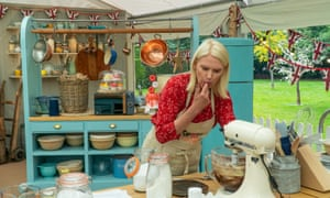 Anneka Rice in the Great Celebrity Bake Off tent.