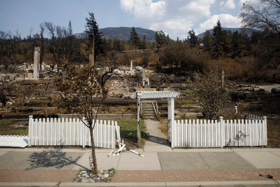 A white picket fence outside a home was left untouched