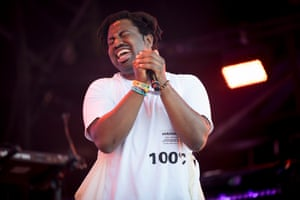 Sampha plays the Park stage