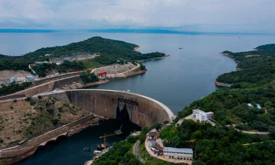 Zambia's Kariba dam and lake.