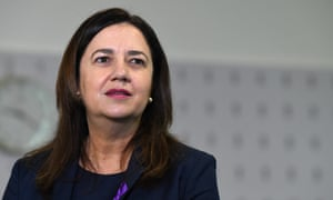 Queensland premier Annastacia Palaszczuk at the Surgical, Treatment and Rehabilitation Service in Brisbane, Monday, 8 March 2021.