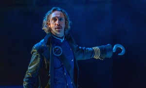 Arrogant and vulnerable … Ryan O'Donnell as Hook in Peter Pan