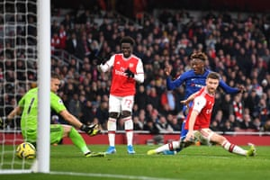Tammy Abraham of Chelsea scores his side's second goal.
