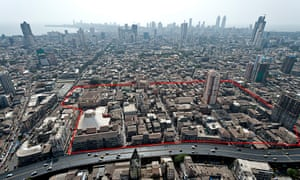 Bhendi Bazaar in south Mumbai. Diagram showing the extent of the development.