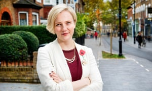 Stella Creasy photographed on Orford Road, Walthamstow village.