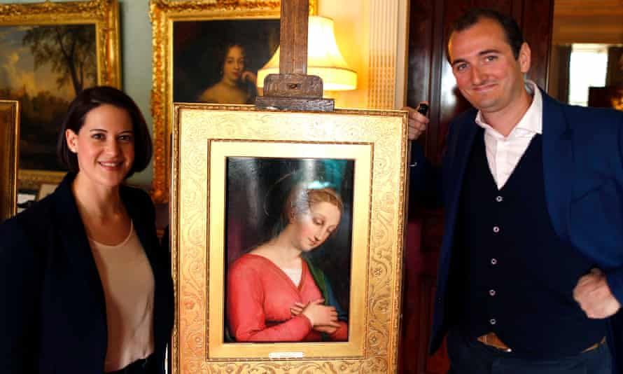 Jacky Klein and Bendor Grosvenor with the painting