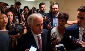 Senator Bob Corker, Republican of Tennessee, said 'It feels like the dam is breaking' but was 'not sure' whether the summit was a turning point for US politics.